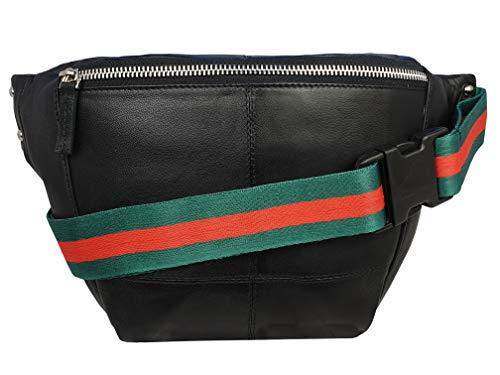 Imagen de roamlite rl626kgu  riñonera o bolsa de transporte de piel auténtica de color negro alternativa