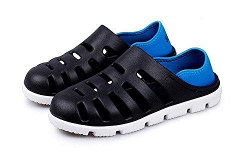 Männer Breathable Sandalen Strand Clogs 2017 Sommer neue Slip On Hausschuhe Slip-Slip Boy Casual Schuhe black blue