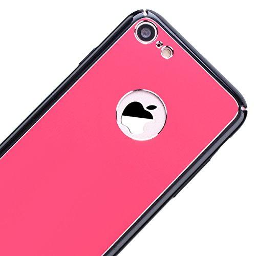 """WE LOVE CASE iPhone 6 / 6s Hülle Spiegel Überzug Retro iPhone 6 / 6s 4,7"""" Hülle Rose Gold Schutzhülle Handyhülle Handytasche Handycover PC Harte Case Anti-Scratch Handy Tasche Schale Schlank Backcover Rose Red"""