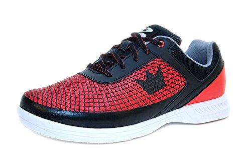 Dexter Red Schuhe (Brunswick Bowlingschuhe Frenzy Black Red, Größe:46, Farbe:Schwarz/Rot)