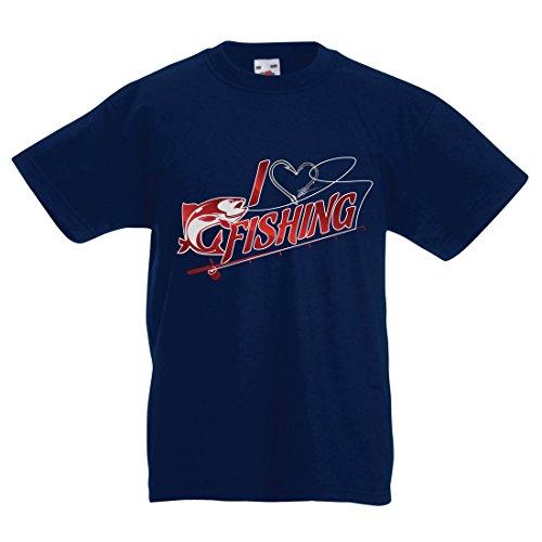 Kinder T-Shirt Ich Mag Fischen - Fischer Geschenk, für Fisch Liebhaber Zitate, Witz Hobbys Humor (7-8 Years Dunkelblau Mehrfarben) (Hoodie Bio-baumwolle V-neck)