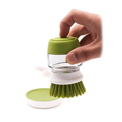 1pc Palm Scrub Dish Brush mit Spülmittel Seifenspender Lagerung Stand Küche Reinigungswerkzeuge