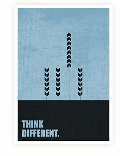 Lab Nr. 4 Think Different Business Zitate Druck Poster Größe A3 (41,9 x 29,7 cm)