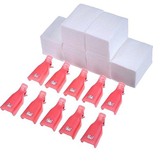 Clip Removedor Esmaltes UV Gel 10 Piezas 420 Piezas