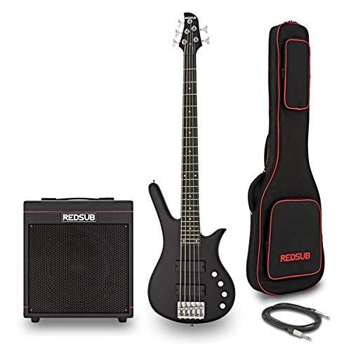 RedSub FN5 5 String Bass and BA-30 Amp Bundle Black