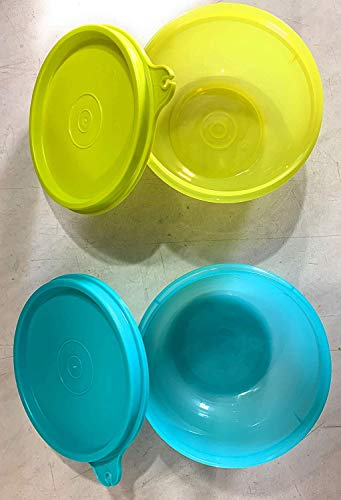 Tupperware Tupin Plastic Bowls/Cups  Tropical Twins Round, 250 ml    Set of 2