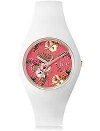 Ice-Watch - ICE flower Lunacy - Montre blanche pour femme avec bracelet en silicone - 001297 (Medium)