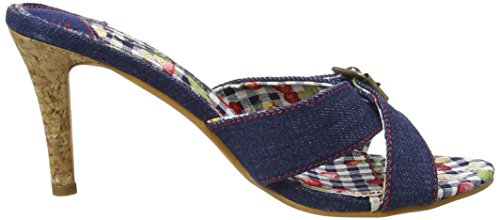 Joe Browns - At The Hop Denim Mules, Scarpe spuntate Donna Blu (a-denim)