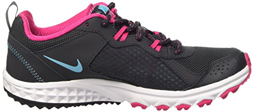 Nike Damen Wmns Wild Trail Sport & Outdoorschuhe grau (Anthracite/Polarized Blue-Vivid Pink-White)