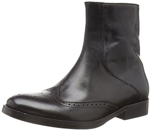 Mentor - Mentor Brogue Boot, Stivali Donna Nero (Nero (Black Leather))