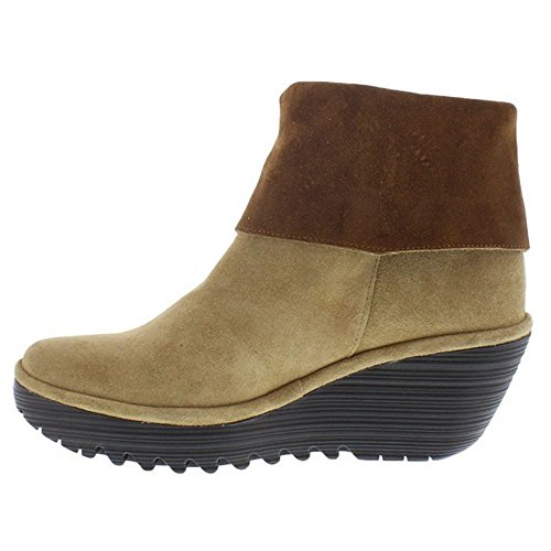 FLY London Damen Yex668fly Kurzschaft Stiefel Capuccino/Camel
