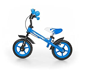 "Milly Mally Dragon Z Hamulcem Infantil Unisex Ciudad Acero Negro, Azul, Blanco bicicletta - Bicicleta (Ciudad, Acero, Negro, Azul, Blanco, 25,4 cm (10""), Sin Cadena, Freno de Mano)"