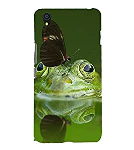 printtech Nature Frog Butterfly Back Case Cover for One Plus X