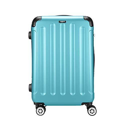 Amasava Maleta Rígida,Equipaje,Mediano Maleta Trolley,65cm,65 litros,Candado TSA,4 Ruedas multidireccional,Azul Claro