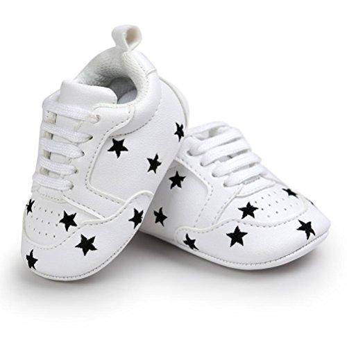 Babyschuhe Longra Baby Mädchen Jungen Stickerei Liebe Form Verband weichen Sohle Schuhe Sneakers Casual Schuhe Lauflernschuhe Krippeschuhe (0 ~ 18 Monate) A