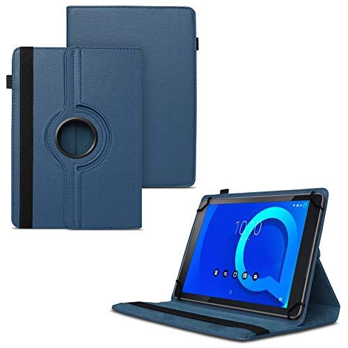 Tablet Hülle für Alcatel 1T 10 Tasche Schutzhülle Case Schutz Cover 360° Drehbar 10.1 Zoll Etui, Farbe:Blau