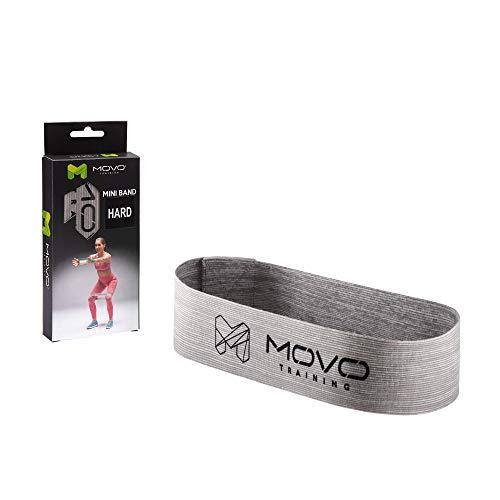 MOVO Mini Band Hard | 30 x 5 cm | Fitness-Band Kurz | Latexfrei | aus Textil Material | Widerstandsband für Krafttraining | Waschmaschinenfest | Für Profis und Amateure | Für Profis und Amateure