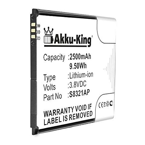 Akku-King Batterie pour Wiko Slide, N300 - remplace S8321AP - Li-Ion 2500mAh
