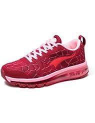 ONEMIX Mujer Air Cushion Zapatillas de Running Ligero Caminar Correr Gimnasio Ejercicio al Aire Libre Disco