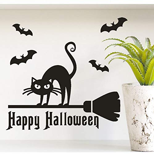 Guyuell Happy Halloween Knochen Wandaufkleber Fenster Dekoration Abziehbild Dekor Halloween Dekoration Horror Yard 2018 40X40Cm