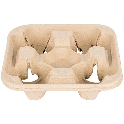 Southern Champion Tray 18950 ChampWare Molded Fiber 4 Cup Drink Carrier, Hold 8 to 32 oz. Cup, 75 Piece by Southern Champion Tray