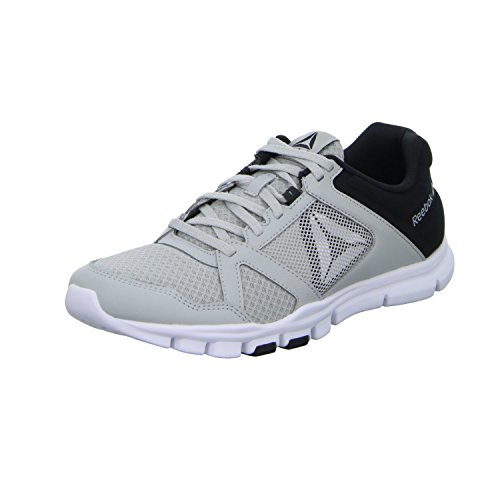 Reebok Herren Yourflex Train 10 Mt Fitnessschuhe, Grau (Skull Grey/Black/White 000), 44 EU