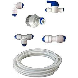 """Nature's Water - Kit idraulico con Filtro per frigoriferi e congelatori americani LG, Samsung, Bosch, DAEWOO, GE e tutti i tubi LDPE 1/4"""""""