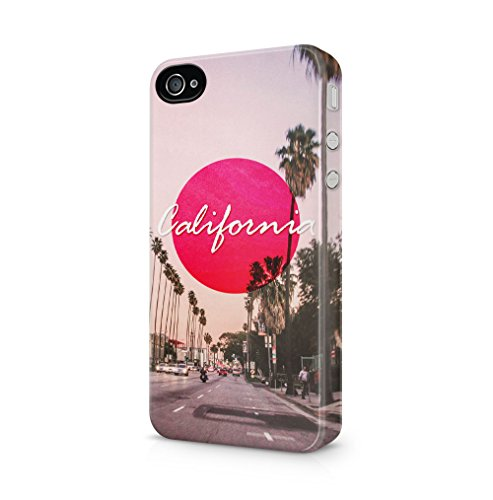 Maceste Sunny California Summer Vibes Kompatibel mit iPhone 4 / iPhone 4S SnapOn Hard Plastic Phone Protective Fall Handyhülle Case Cover (4 California Fall Iphone)