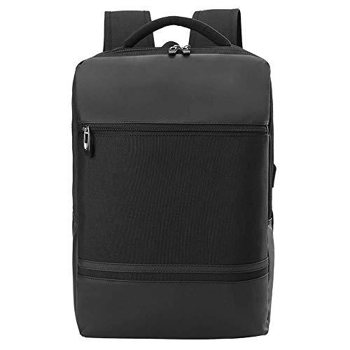GONGFF Männer im Freien Multifunktionsreiserucksack USB-Aufladungslaptop-Umhängetasche koreanische Studententasche,Black
