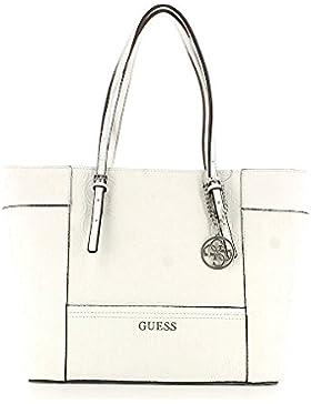 GUESS Delaney Tasche Damen Handtasche Henkeltasche Weiß HL453523