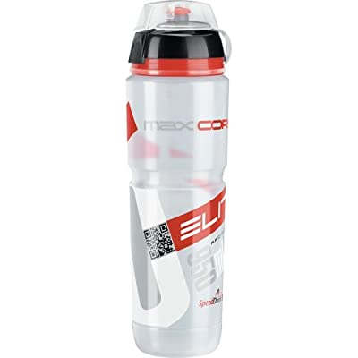 Elite Trinkflasche Maxi Corsa Mtb 1,0l - clear/red