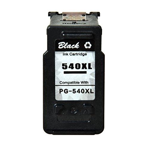 Nineleaf 1 Packung Wiederaufbereitete PG-540XL PG540XL PG-540 XL Druckpatronen Schwarz Hohe Kapazit?t Tintenpatrone mit F¨¹llstandanzeige Kompatibel zu Canon PIXMA MG2100 MG2150 MG3100 MG3150 MG3200
