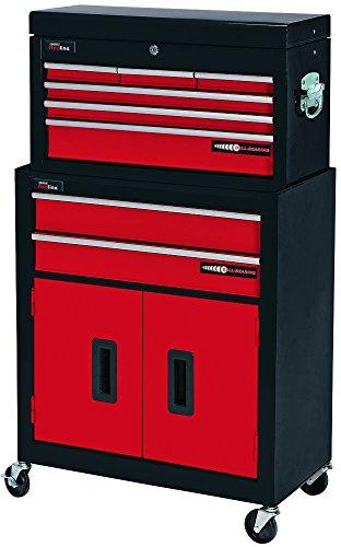 Draper 80927 Armoire à rouleaux à 2 tiroirs avec coffre à outils à 6 tiroirs