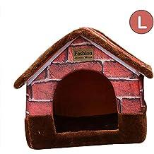Cama de Perro Nido Mascota Gato Funcional casa de Perro caseta casa Cama Gato Lavable Algodón