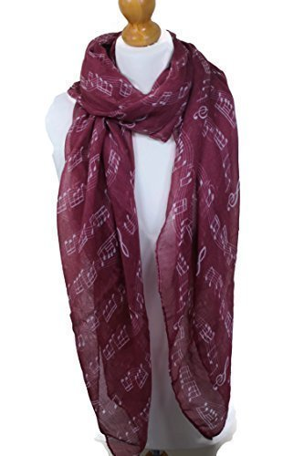 music-scarf-musical-piano-violin-notes-classical-mozart-style-crotchet-quaver-scarf-red