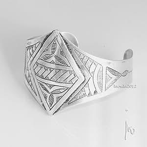 Bracelet agate rigide bijoux ethnique Maroc