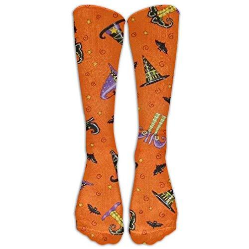 deyhfef Women's Halloween Pattern Casual Soft Nylon Knee Socks,Novelty Sport Calf Tube Socks For Party, Cosplay, Halloween, School