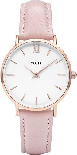 Cluse Montre Femme Analogique Quartz avec Bracelet en Cuir – CL30001