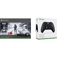 Microsoft Xbox One X, schwarz - Metro Exodus Bundle + Xbox Wireless Controller, Schwarz