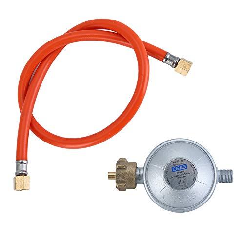 Matthew00Felix Liquefied Petroleum Gas Regler mit Schlauch 50 mbar Druck Propan-Regler -