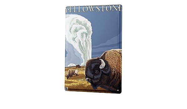Blechschild Welt Reise Yellowstone