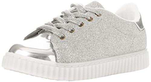 Spot on Mädchen H2413 Sneaker Silberfarben