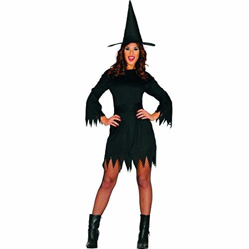 Amakando Hexenkleid Hexenkostüm Damen L 42/44 Halloween Kostüm Zauberin Damenkostüm Hexe Verkleidung böse Fee Outfit Magierin Damen