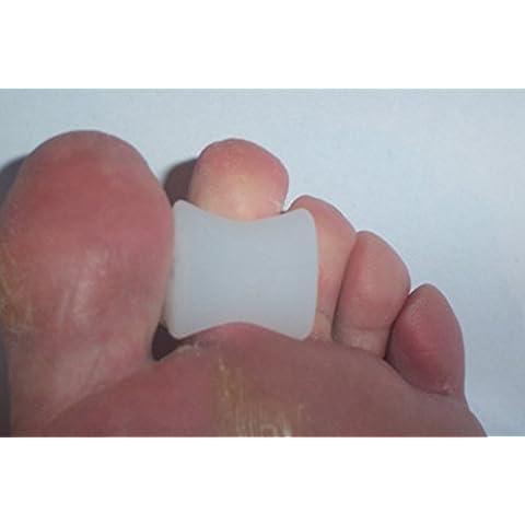 X4foottrektm polimero morbido silicone GEL Toe Props/supporto/piastra (2misure) (Small)