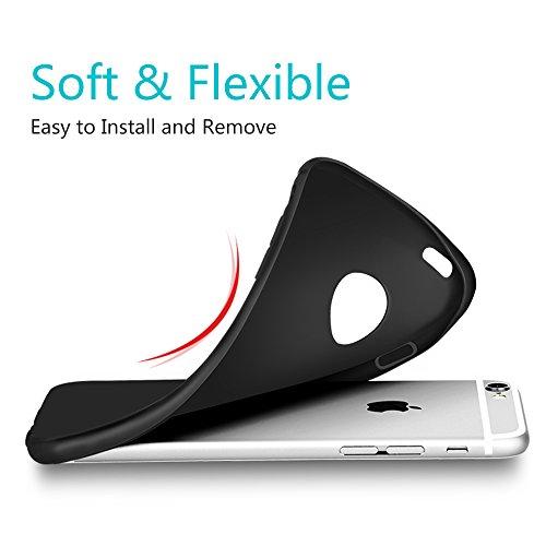 Hülle für iPhone 6 6S, DOSMUNG Handyhülle für iPhone 6S 6-Transparente und Kristallklar-Premium Kratzfest Silikon TPU, Ultradünne Schutzhülle Case für iPhone 6 6S (4,7 Zoll) iPhone 6/6S Schwarze Hülle