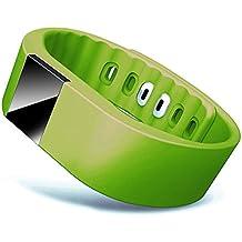Chinatera tw64Bluetooth Smart LED Watch Pulsera Deporte Podómetro verde