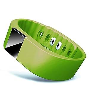 Chinatera tw64bluetooth smart LED Watch Bracciale Sport Contapassi, verde