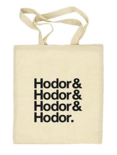 Hodor& Hodor& Hodor& Hodor. Natur Stoffbeutel Jute Tasche (ONE SIZE) Natur