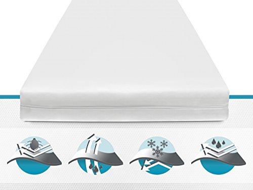 allergendichte Matratzenschutzbezüge - wirksam gegen Milben, Bakterien und Pilze - verbinden optimal Allergieschutz und hohen Schlafkomfort - erhältlich in 15 verschiedenen Größen, 80 cm x 200 cm x 16 cm