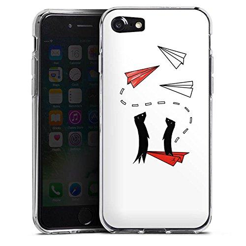 Apple iPhone X Silikon Hülle Case Schutzhülle Erdmännchen Tiere Comic Silikon Case transparent